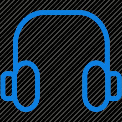 headphones, line, loud, media, multimeda, music, sound, volume icon