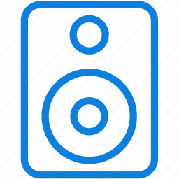 audio, line, loudspeaker, music, sound, volume, woofers icon