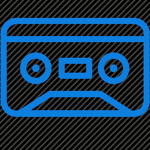 audio, cassette, line, media, music, sound, vintage icon