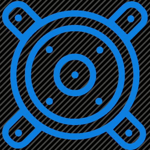 line, loud, loudspeaker, music, speaker, volume, woofers icon