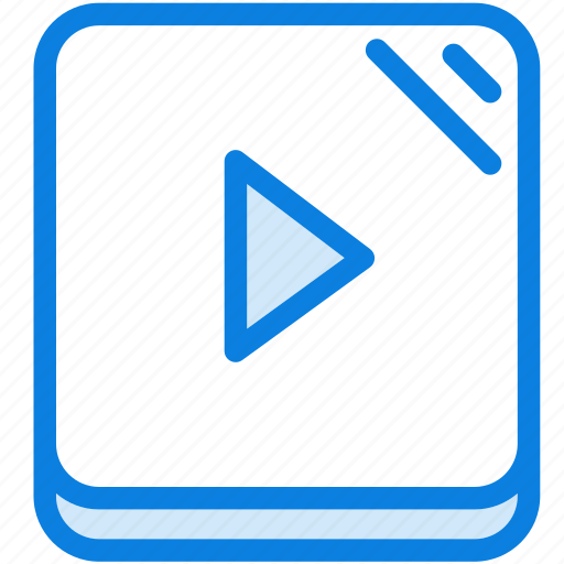 blue, icons, light, media, multimedia, music, play, player, video icon