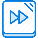 blue, forward, icons, light, media, multimedia, music, next, rewind icon