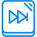 audio, blue, icons, light, media, multimedia, music, next, sound icon