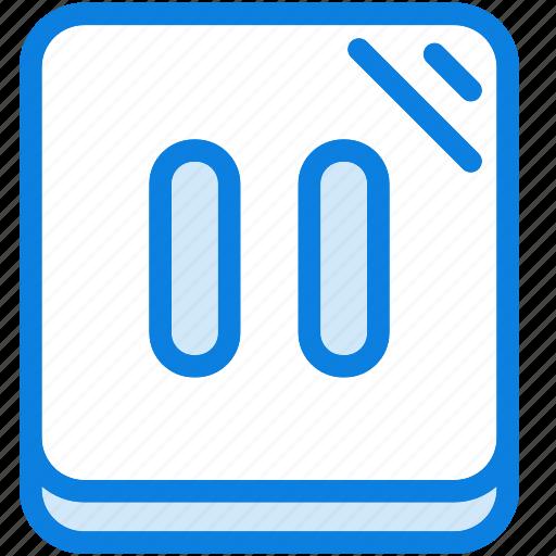 audio, blue, icons, light, media, multimedia, music, pause, sound icon