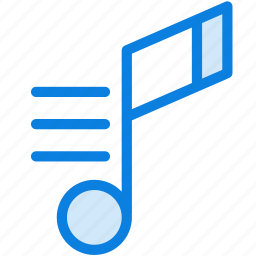 audio, blue, icons, light, music, music note, note, sound icon