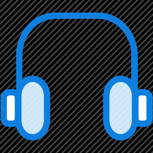 blue, headphones, icons, light, loud, music, sound icon