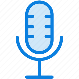 audio, blue, icons, light, media, microphone, multimedia, music, record, sound icon
