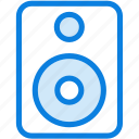 audio, blue, icons, light, loud, loudspeaker, music, sound, volume, woofers icon
