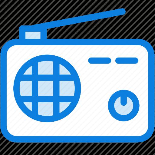 audio, blue, icons, light, music, radio, sound, technology icon