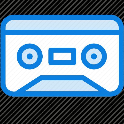 audio, blue, cassette, icons, light, music, sound, vintage icon