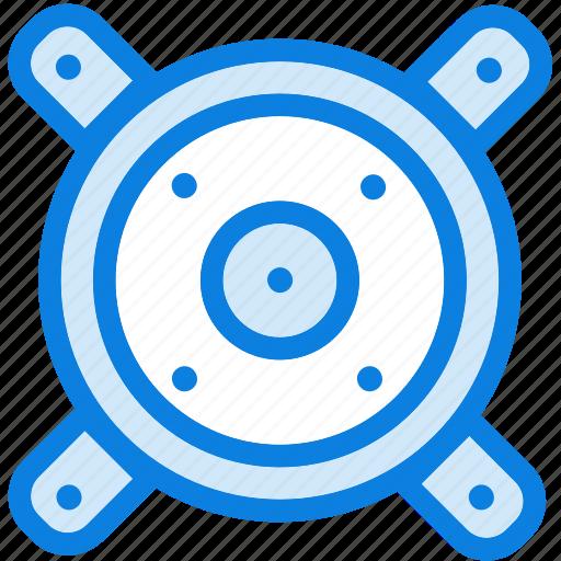 audio, blue, icons, light, loudspeaker, music, sound, speaker, woofers icon