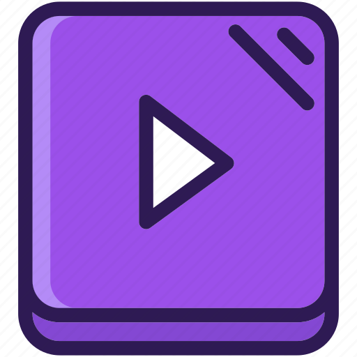 colored, media, multi, multimedia, music, play, player, sound, video icon