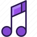 audio, colored, icons, media, multi, music, music note, note, sound icon