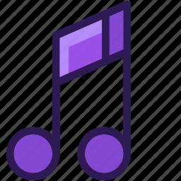 audio, colored, icons, media, multi, music, music note, note, sound icon