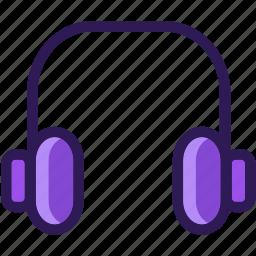colored, headphone, headphones, icons, media, multi, multimedia, music, sound icon