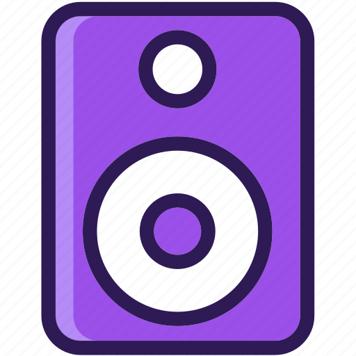 colored, icons, loudspeaker, multi, music, speaker, woofers icon