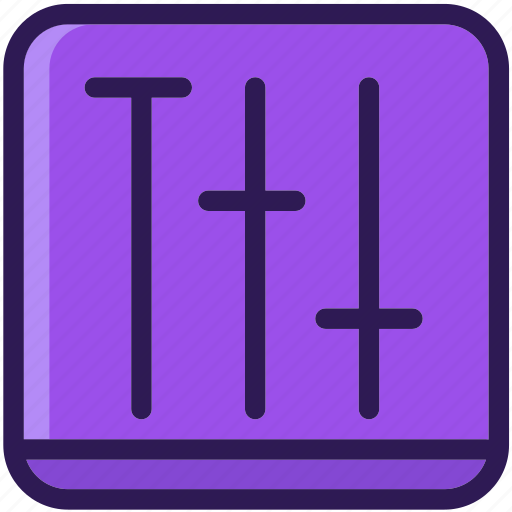 adjustment, audio, colored, icons, multi, music, sound icon
