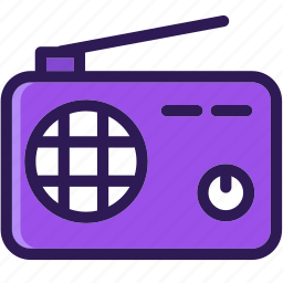 colored, icons, multi, music, radio, technology icon