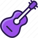 acoustic, colored, guitar, instrument, melody, multi, music, musician, rock icon