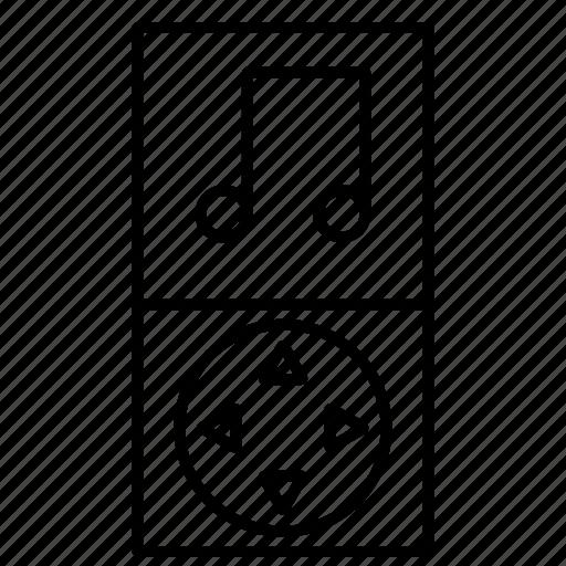 audio, mp3, multimedia, music, player icon