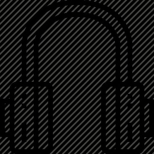 headphone, media, music, musical, sound icon