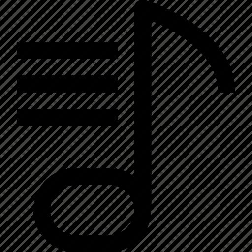 audio, list, music, sound, voice icon