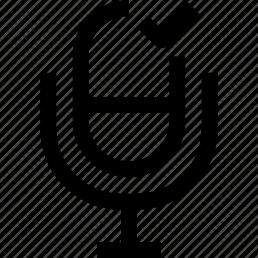 audio, check, microphone, music, sound, voice icon