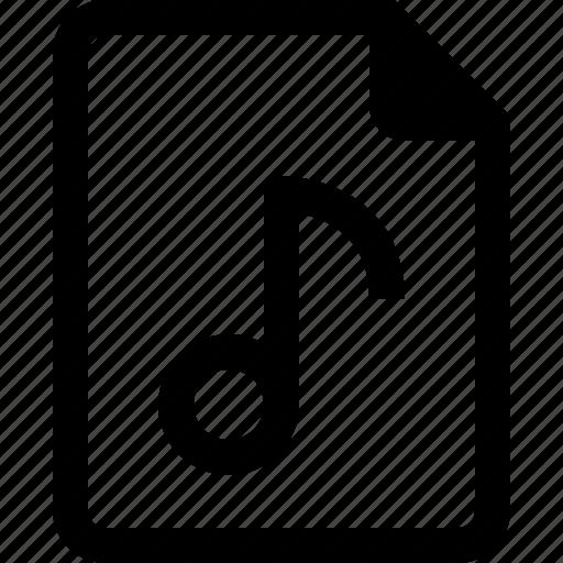 audio, file, media, music, musical, sound icon