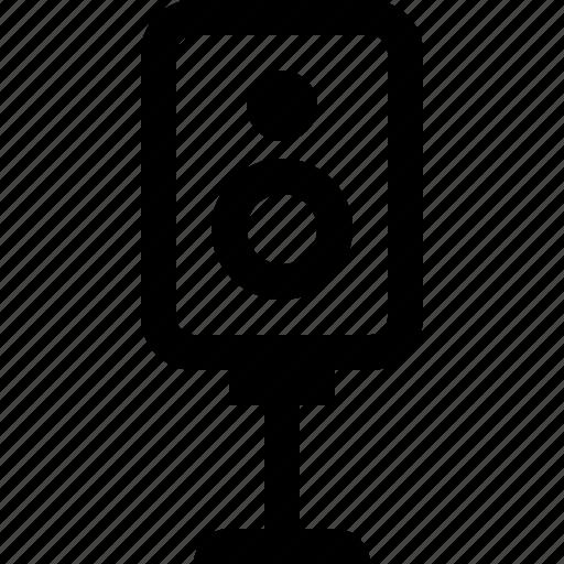 audio, media, music, musical, sound, speaker icon