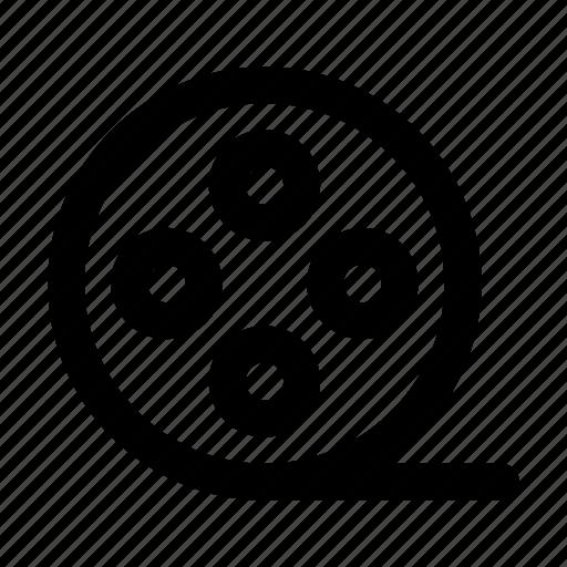 audio, cinema, clip, music, roll, video icon