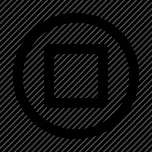 audio, media, music, stop, video icon