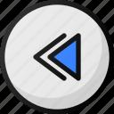 backward, button, interface, music, media