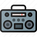 casette, player, music icon