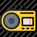 music, radio, casette, player