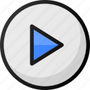 play, button, interface, music, media