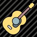 guitar, music, acoustic