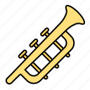 instrument, bugle, trumpet, music