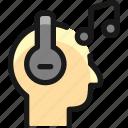 headphones, human, music