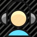 headphones, person
