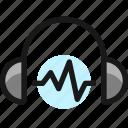 headphones, wave