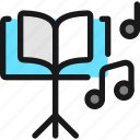 music, book, note