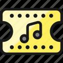 music, concert, ticket