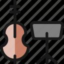 instrument, contrabass, sheet