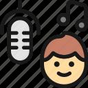 microphone, sing, man