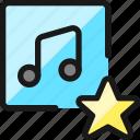 playlist, star, favorite