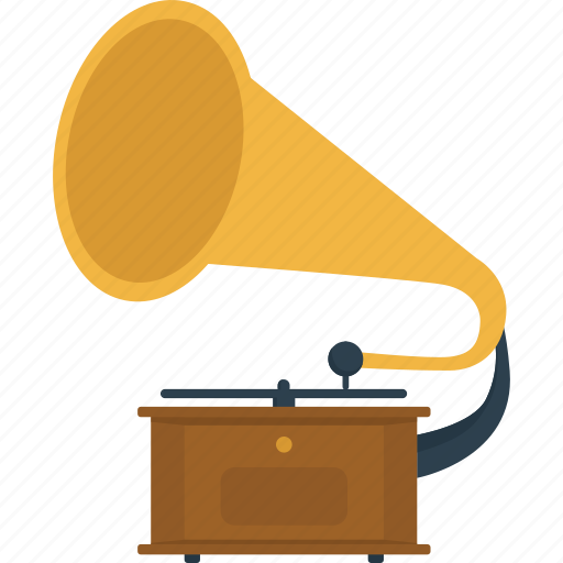 audio, gramophone, listen, melody, music, music player, past, retro, song icon
