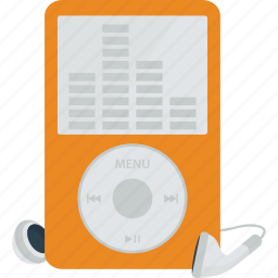 earphones, earpiece, headphones, ipod, listen, mp3, mp3 player, music, music player, player icon