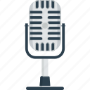 audio, mic, microphone, music, record, recording mic, sing, singer, sound, speech icon