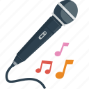 audio, karaoke, melody, microphone, music, notes, party, sing, singer, song icon