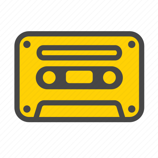 audio tape, casette, cassette tape, mixtape, music player, tape icon
